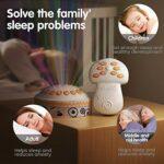 Projecteur d'étoile de veilleuse à télécommande sans fil de jouet de bébé, machine de son de sucette de sommeil de bébé, ensembles de cadeaux de jouet de berceau pour 0 3 6 9 12 mois et plus