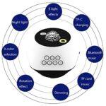 ZJQ-Projecteur Lumière Étoile LED, Musique Bluetooth/TF Musique & Éloignée & Luminositéréglable, pour Enfants Adultes Maison Décoration – 3 Couleurs / 5 Effets Lumière,Marron