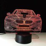 3D Illusion lumière Led Veilleuse Bureau 3D illusion light Décoration pour Enfant Chambre Chevet Table de Bébé Enfant Cadeau De Noël FêteAnniversaire Avec chargement USB, changement de couleur co