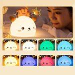 Amuzocity Silicone Lumière de Nuit USB Mignon Dessinée Silicone Lumière avec Tactile Capteur Enfants Infantile Lumière de Nuit Veilleuse Maison