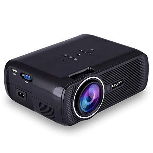 Projecteur, 1500 Lux 1080P pris en charge et 130 » Display Portable Video Projecteur avec 20 000 LED Hrs vie de la lampe, Compatible avec TV Stick, PS4, HDMI, VGA, TF, AV et USB, Noir