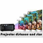 Projecteur, Portable LED Vidéo Projecteur avec 20 000 heures LED vie de la lampe, 1500 Lux Full HD 1080P et 130 » affichage pris en charge, Compatible avec HDMI, VGA, USB, AV, Ordinateur portable