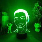 Haikyuu Asahi Veilleuse 3D à changement de couleur et décoration de table pour enfant Motif azumane