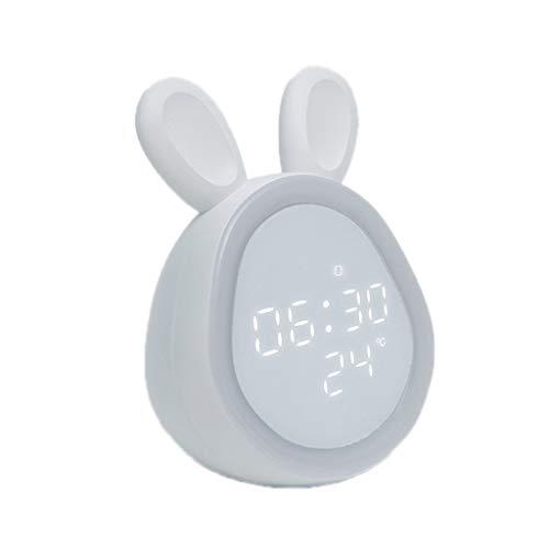 LYWYOUDDKH Réveils pour Chambres avec Snooze et veilleuses, numérique en Forme de Lapin