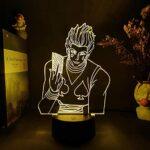 Veilleuse 3D – Motif anime – LED – Décoration de chambre – Décoration d'intérieur – Cadeau d'anniversaire pour enfants.