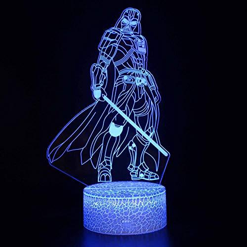 Veilleuse 3D Warrior LED magique, télécommande à changement de couleur – Cadeau créatif pour enfants