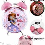 XXZIUINXI Réveil Réveil Princesse New 3D Convex Cartoon Garçon Fille Étudiant Chevet de Bell Réveil Night Light (Color : Frozen 03)