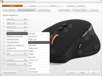 Func MS-3 Software Settings Button Setup