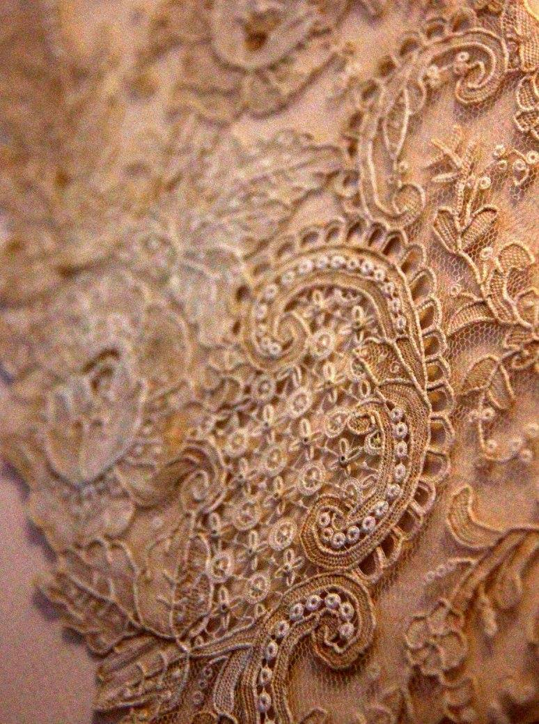 Brugge lace was handmade with different ribbons