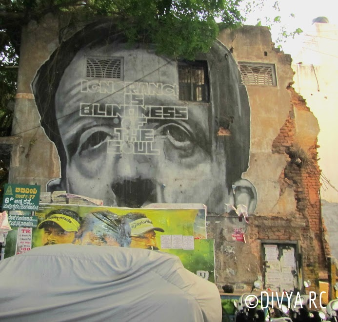 Beautiful Bengaluru street art is found all over the city