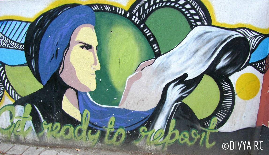 Bengaluru street art on Ashok nagar police station encourages women to voice their complaints