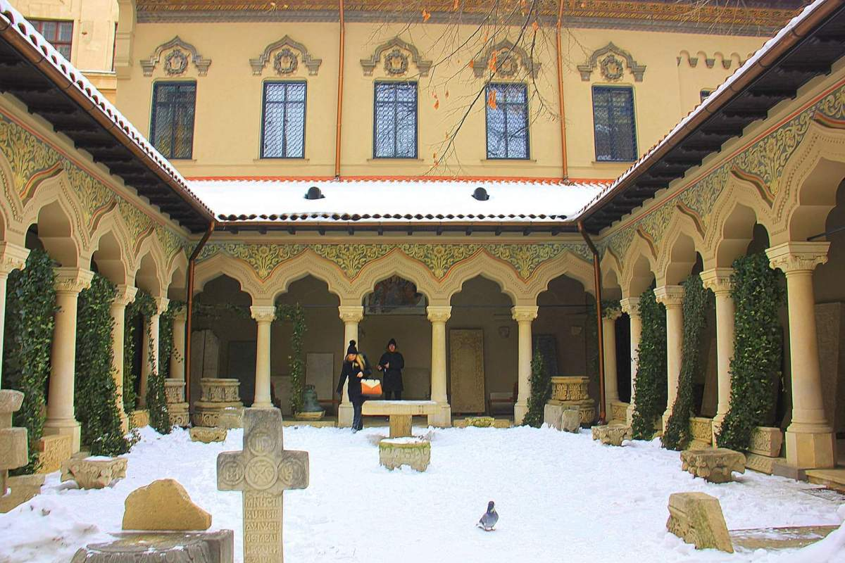 Stavropoleos Monastery is famous for frescoes and intricate carvings of wood