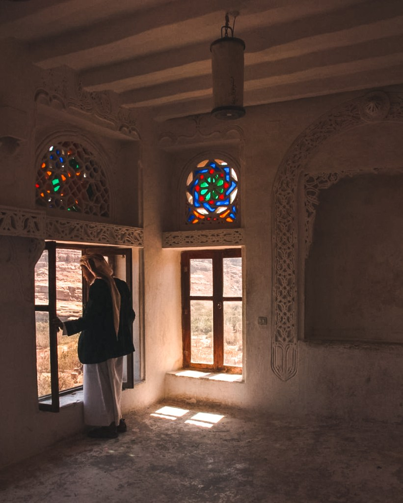 A local man overlooking the Sanaa valley