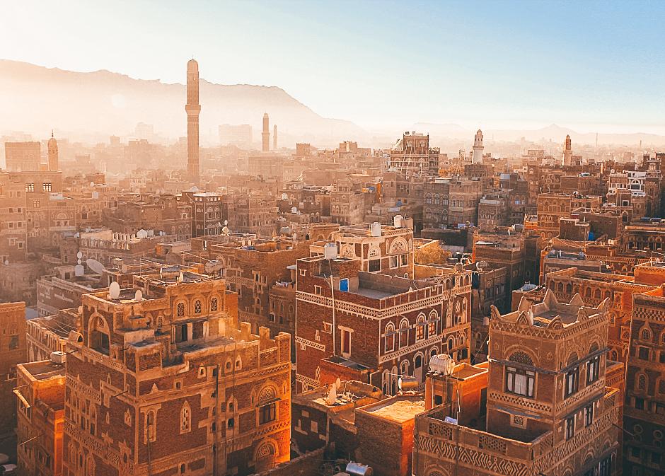 A sunrise over Sanaa