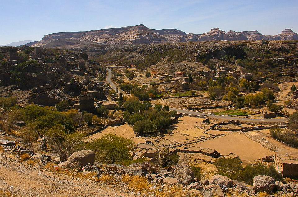 The beautiful Yemeni countryside to Thula
