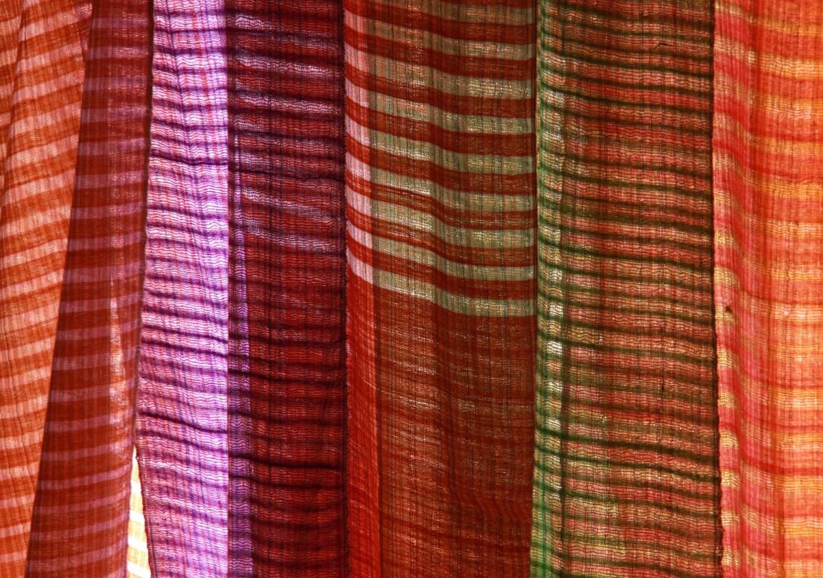 Handwoven textile for sale at Indein