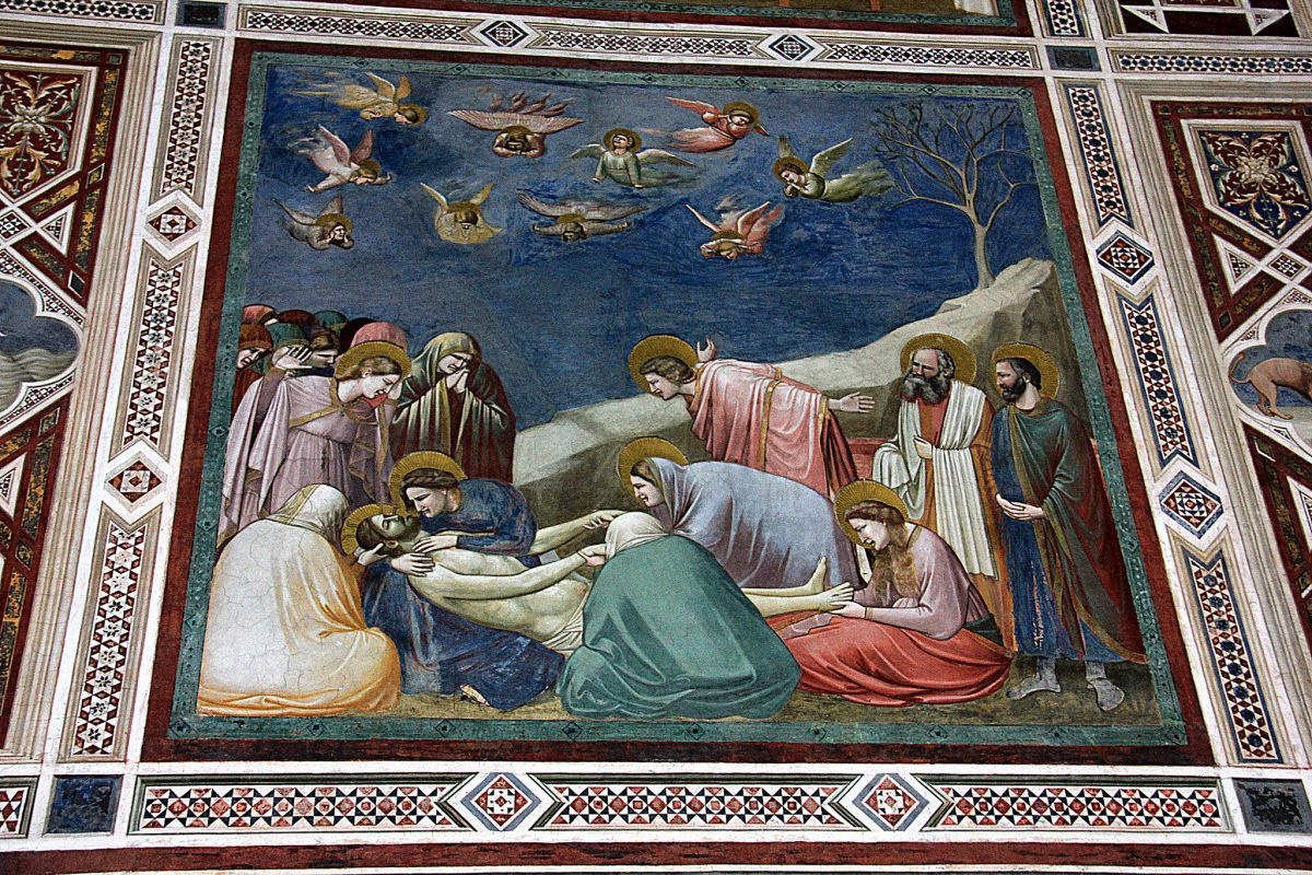 Giotto painted Scrovegni Chapel in Padua