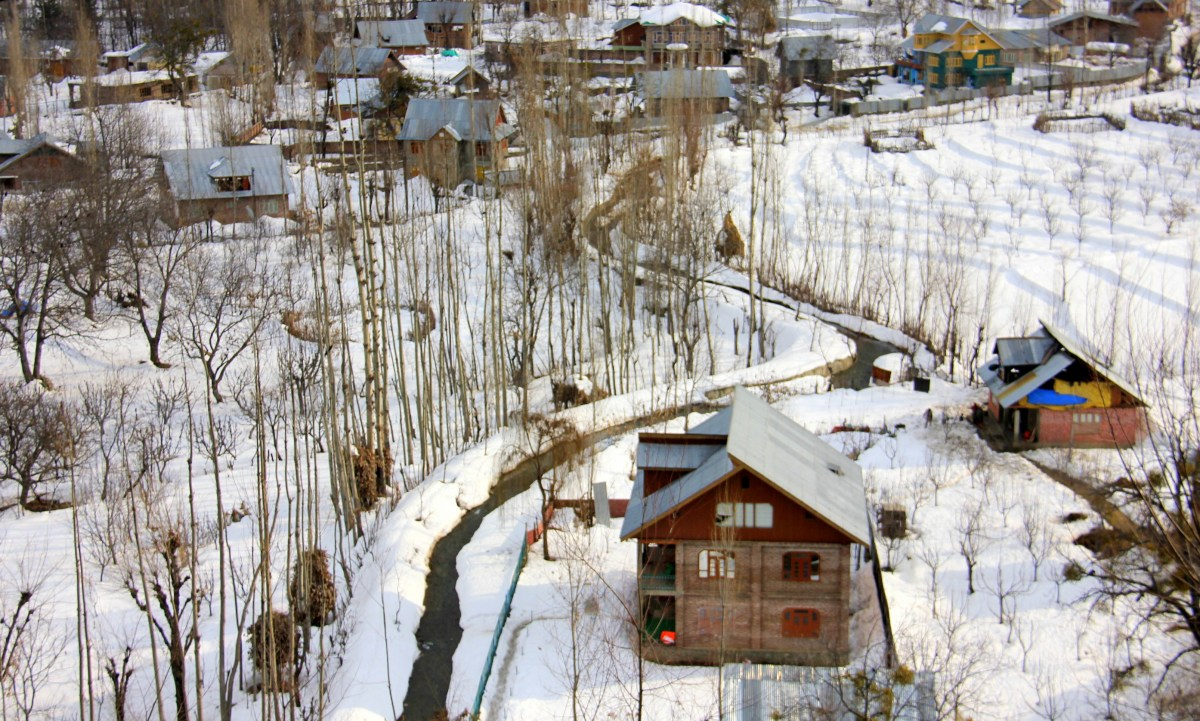 Kashmir in winter looks like this