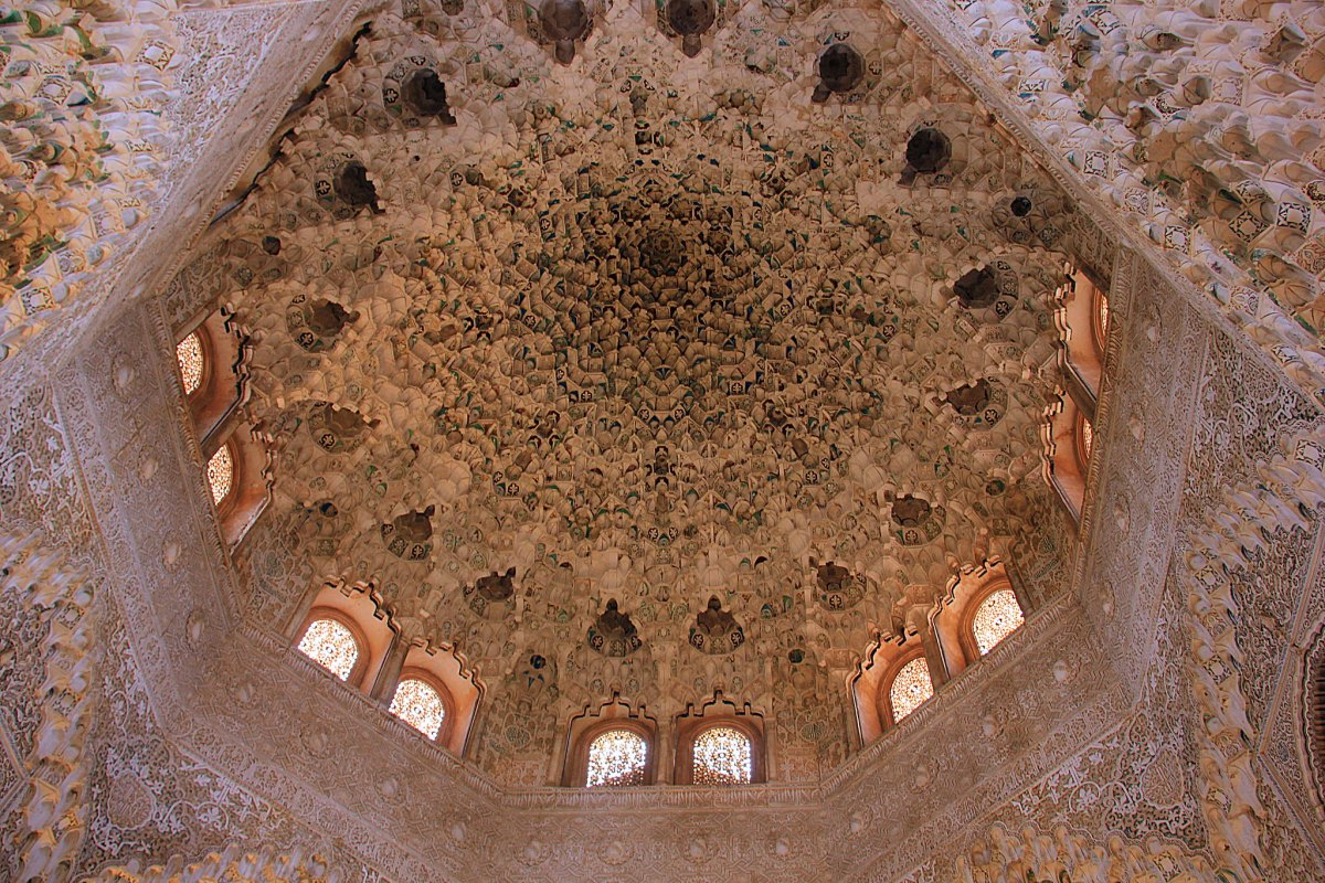 The starry ceiling of Nasrid Palaces is a piece of art