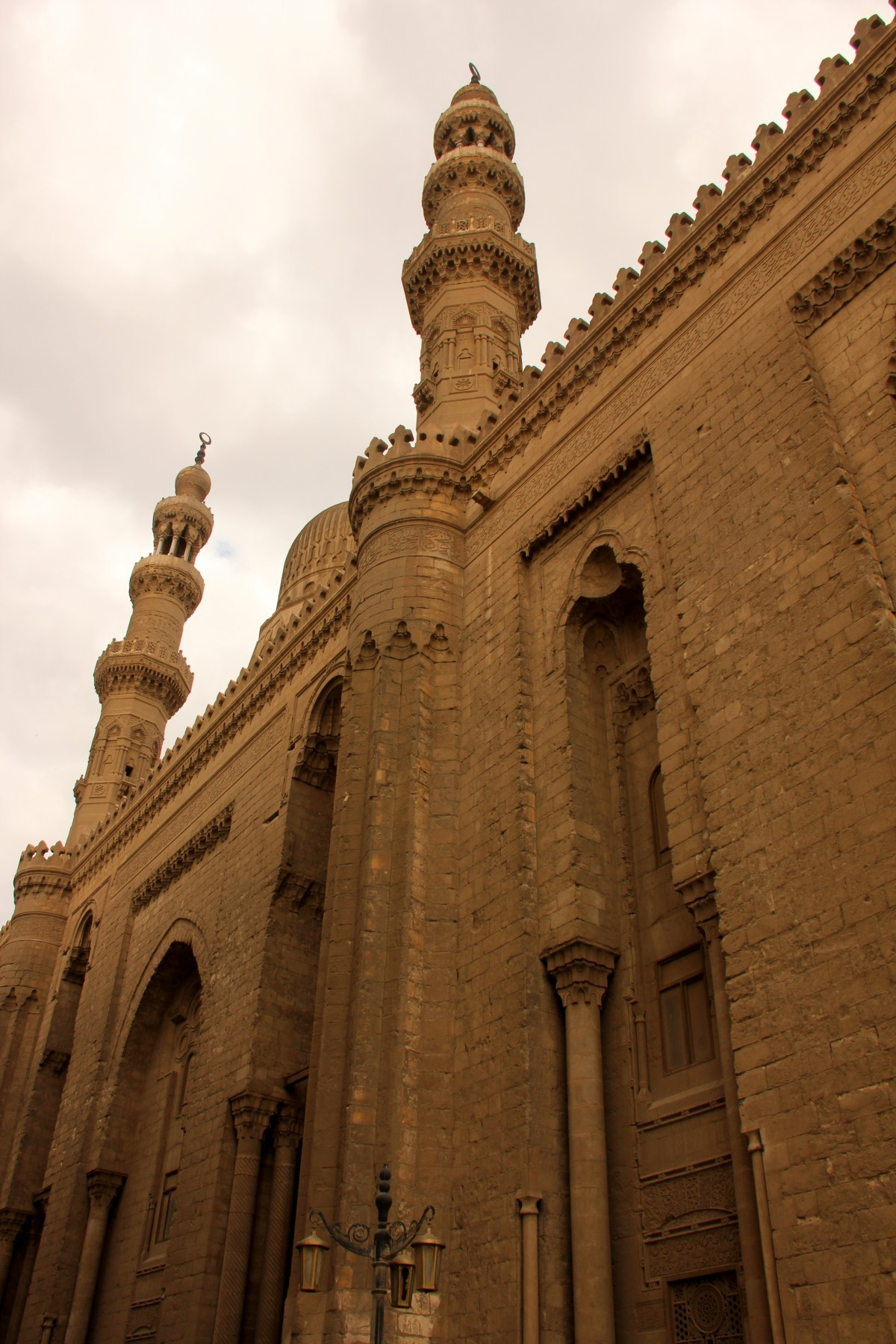 facade of sultan hassan mosque madrassa