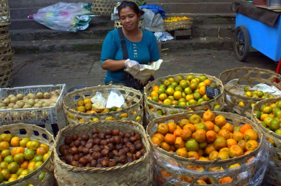 a local market near Ubud