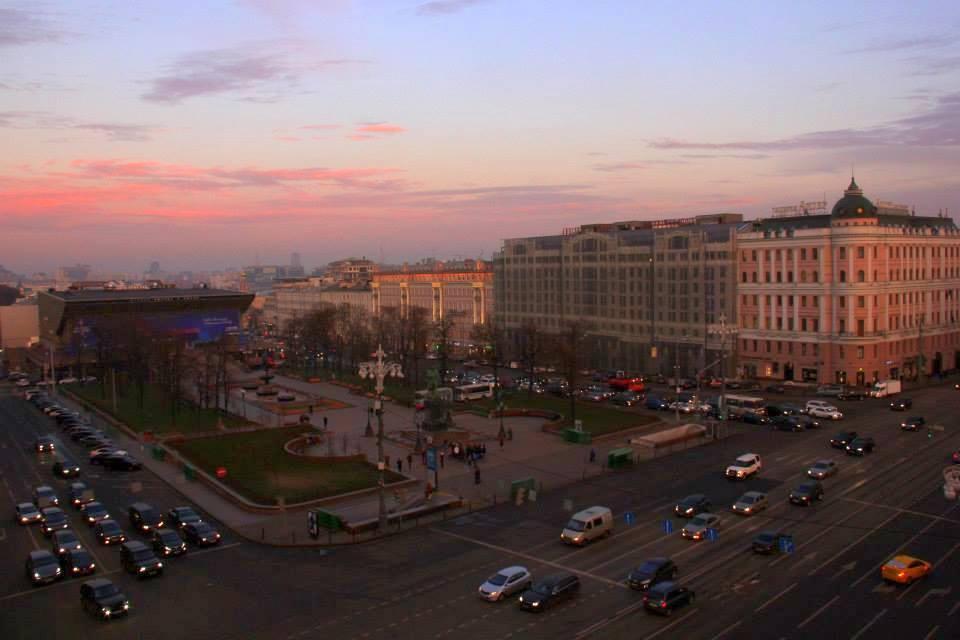 A beautiful Moscow autumn sunset