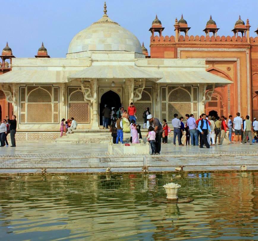 jama mosque inside fatehpur sikri