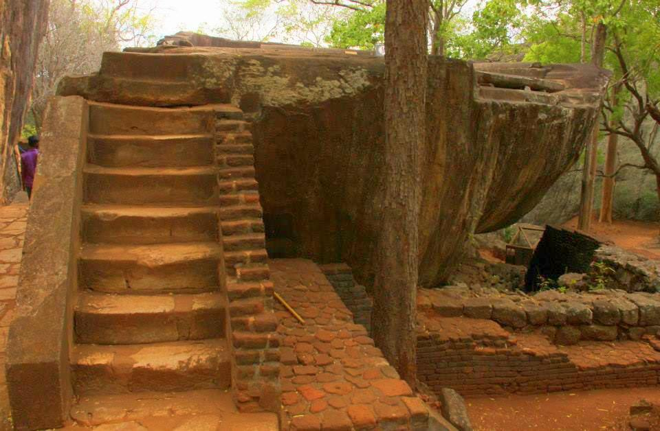 The ruins at Sigiriya