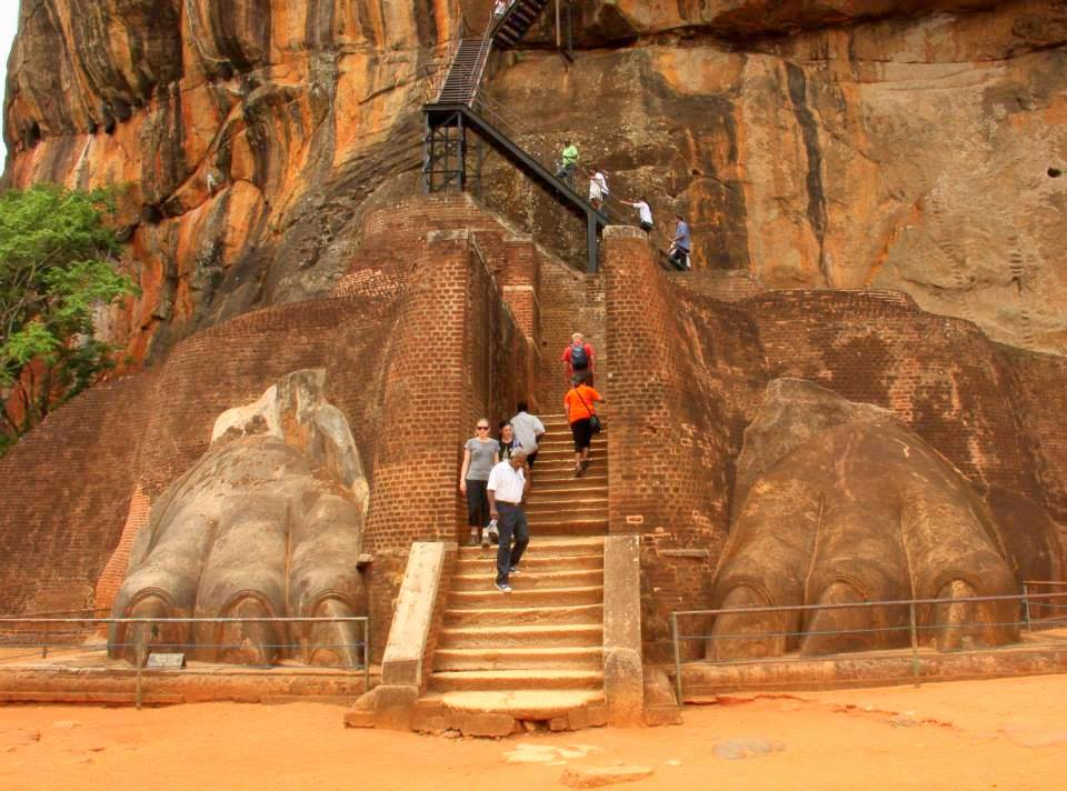 The famous Lion rock Platform that rendered the name Sigiriya