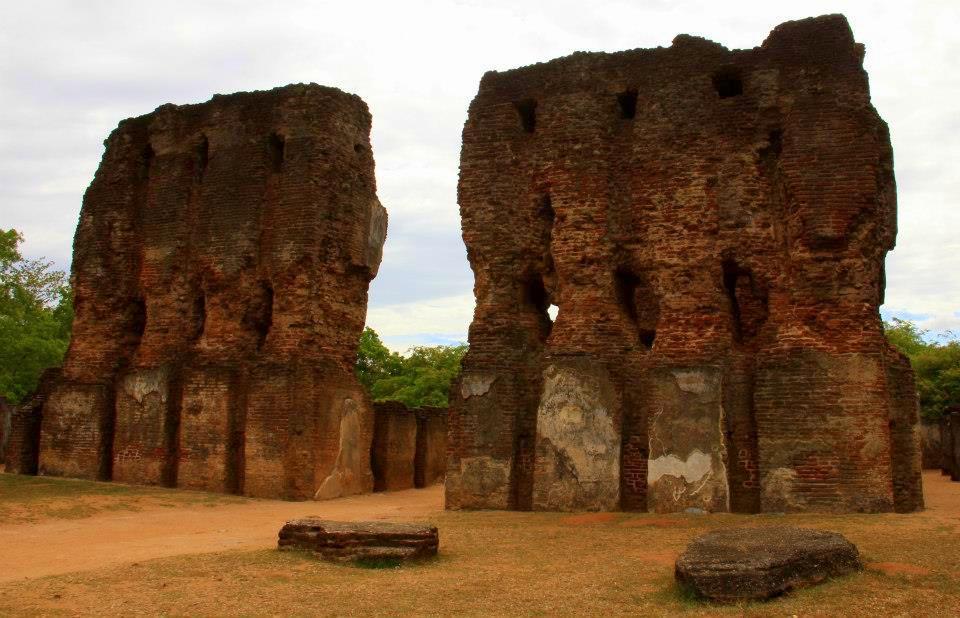 Remnants of the royal palace at Polonnaruwa
