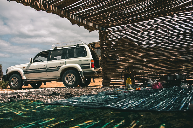 My basic camp at Detwa Lagoon
