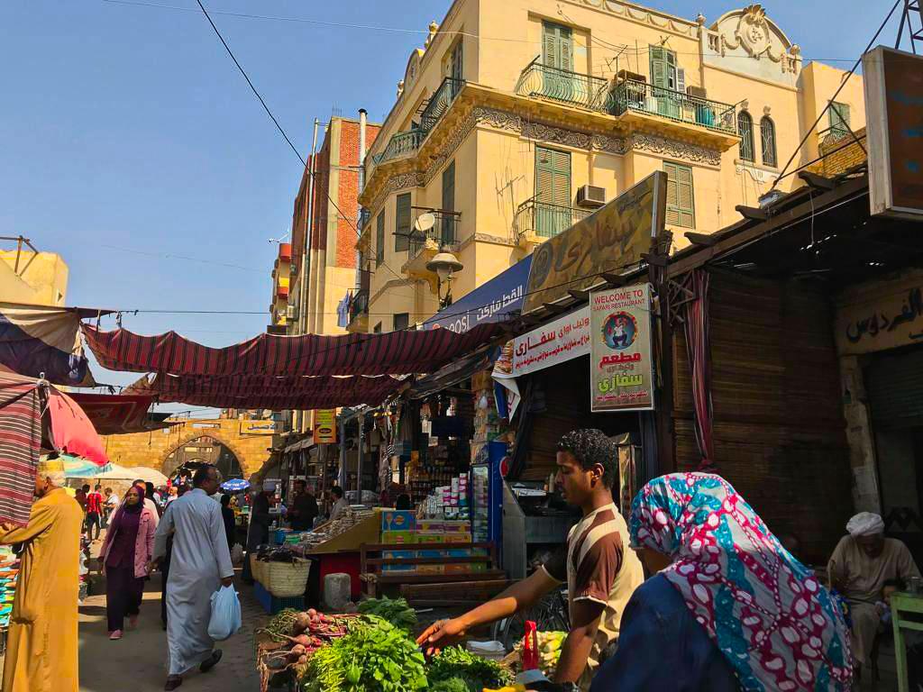 aswan souq shopping