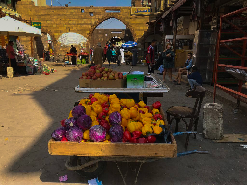 The entrance to the Aswan Souq