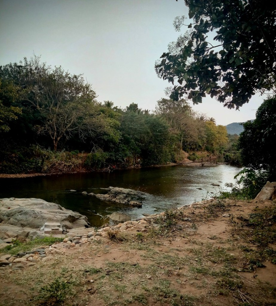 Siruvani River during sat darshan ashram travel