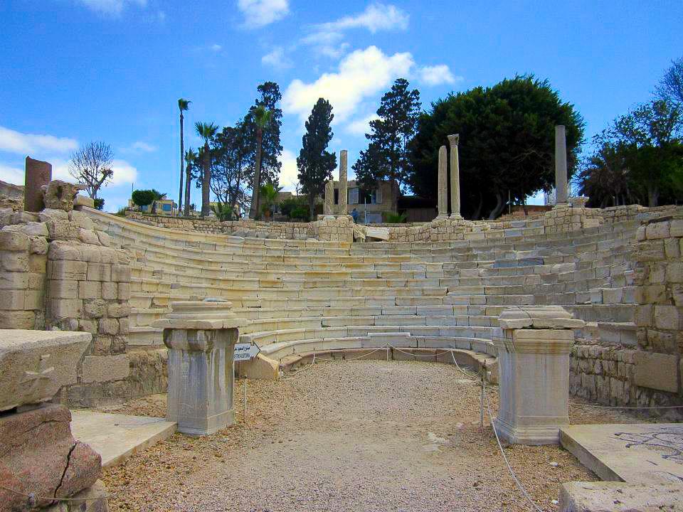The Roman theater in Alexandria