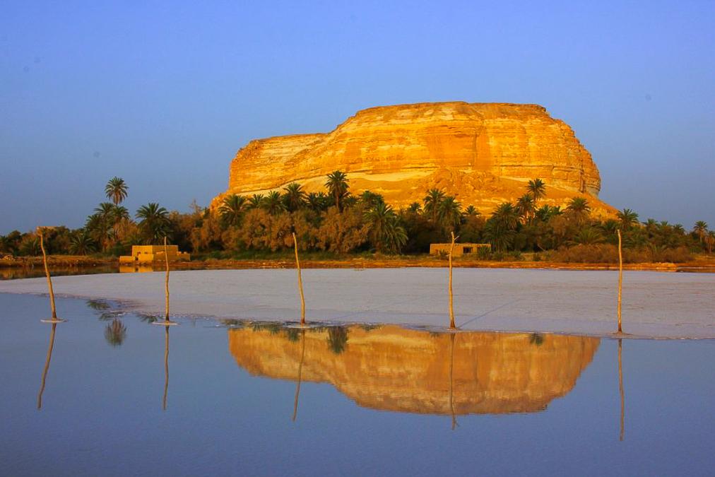 Siwa oasis sunsets often bring sights like this