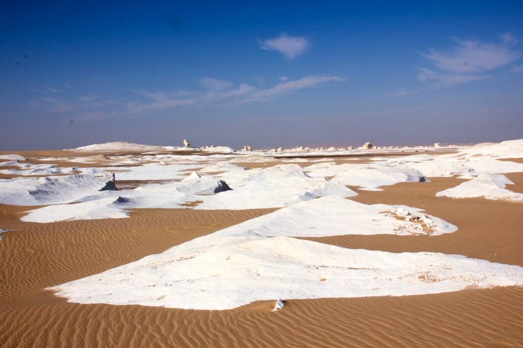 The White Desert landscape resembles nothing on earth