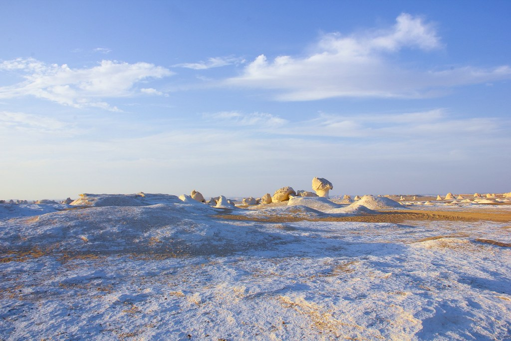The White Desert has a strange surreal landscape