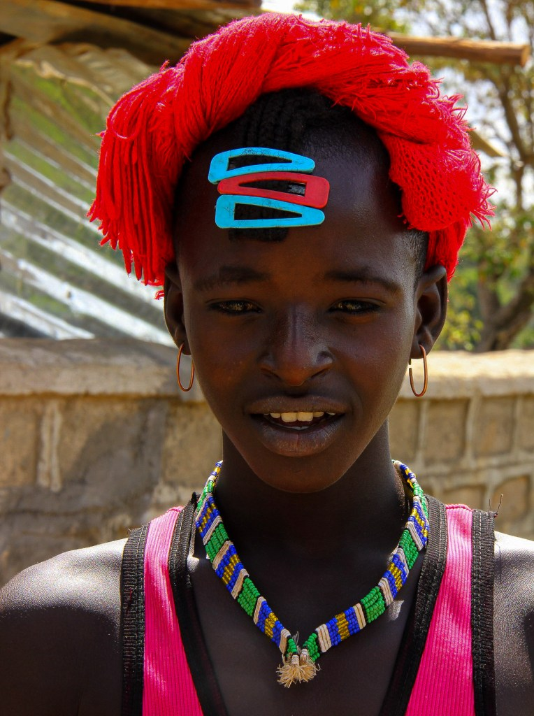 a hamar man of the omo valley tribes