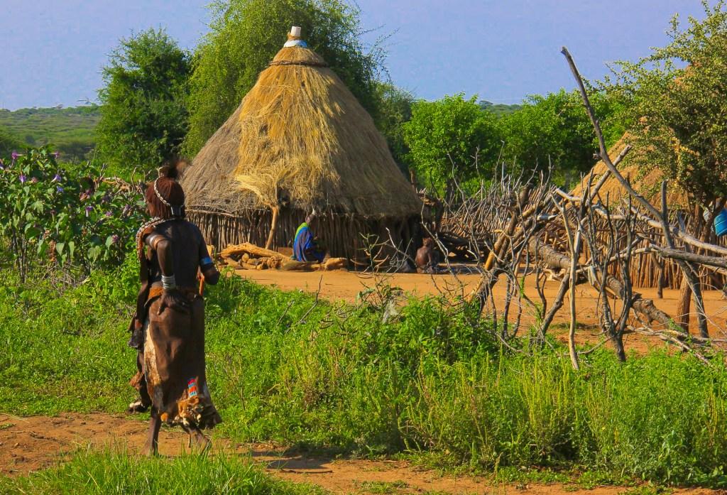 Inside a Hamar village in Ethiopia's Omo Valley