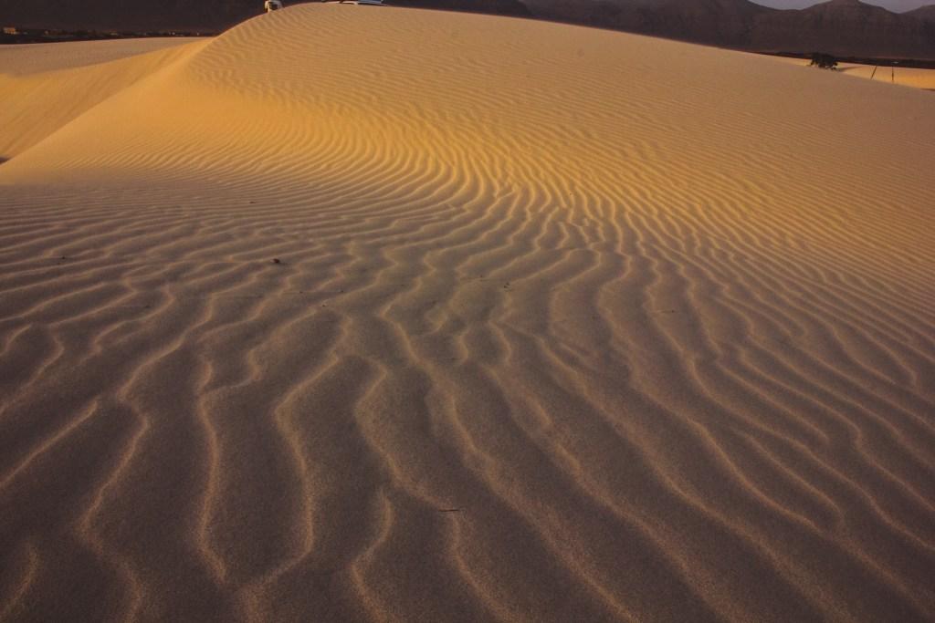 Sunset colours on Zahak dunes