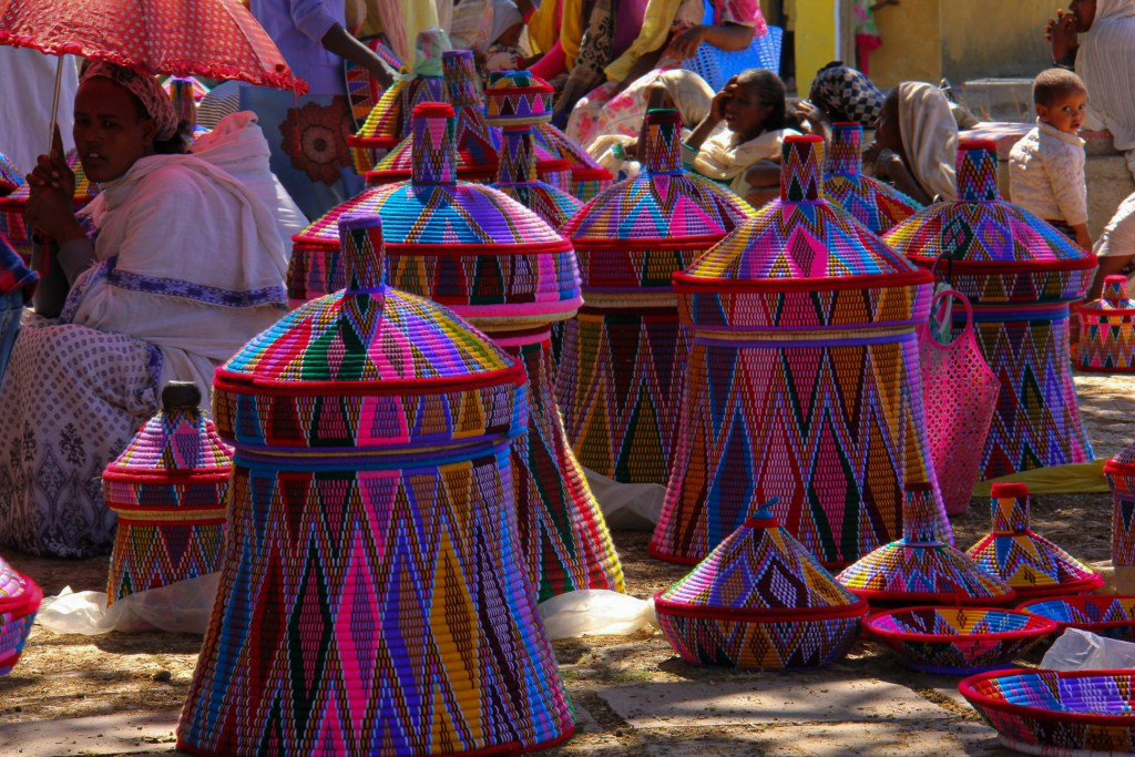 The Saturday basket market at Aksum seen during my ethiopia trip