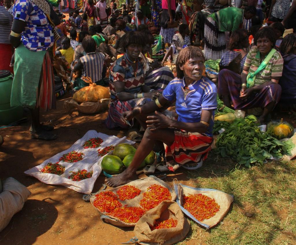 hamar weekly market at lower omo valley