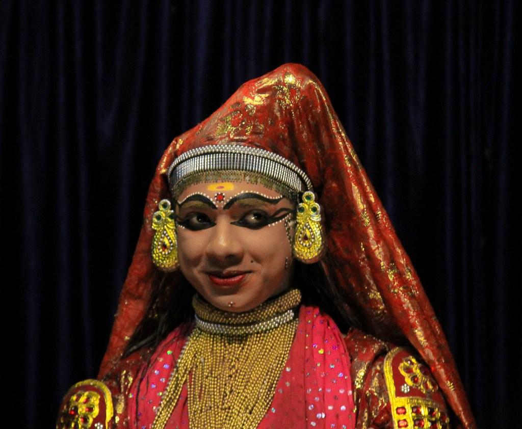 A Kathakali dancer at Kalari Center in Kumily