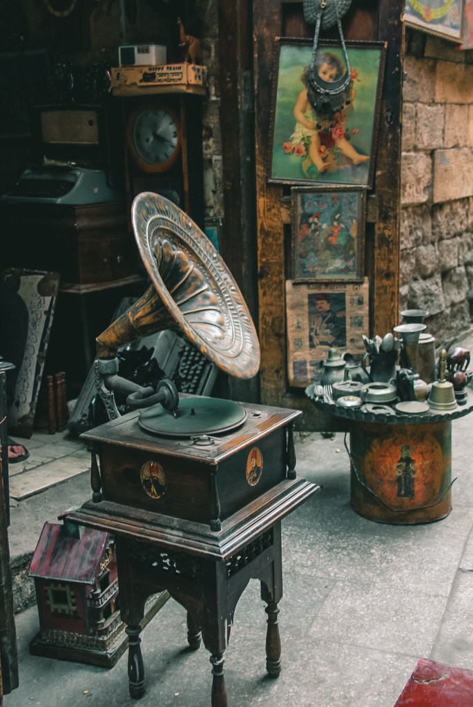 Beautiful antiques for sale at shops in Muizz Street