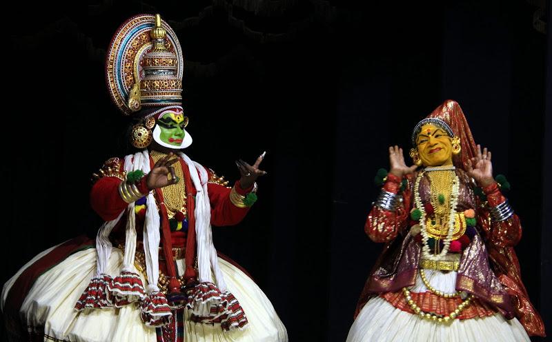 Kathakali performance at Greenix village in Fort Kochi