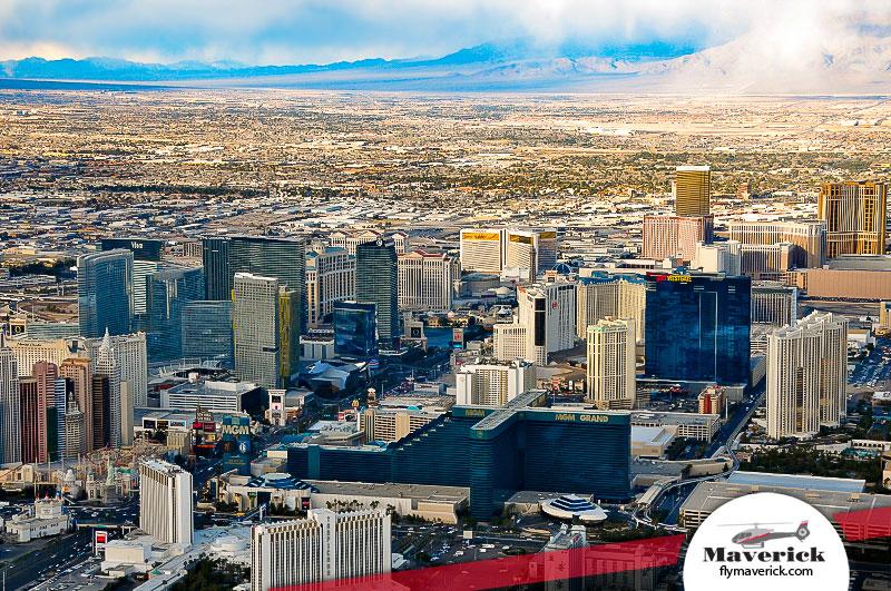 Las Vegas Strip Twilight Wedding Ceremony Maverick Helicopters