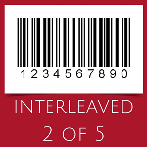Barcode with interleaved 2 of 5 symbology
