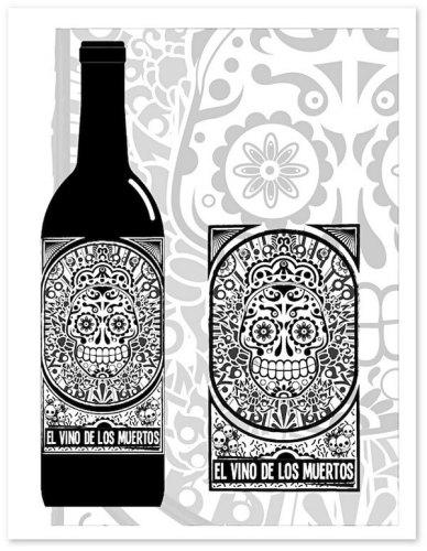 El Vino de los Muertos creative wine labels