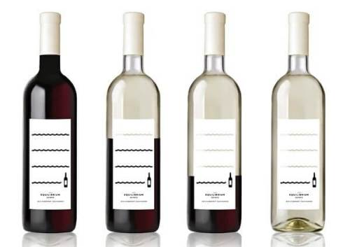Equilibrium creative wine label design